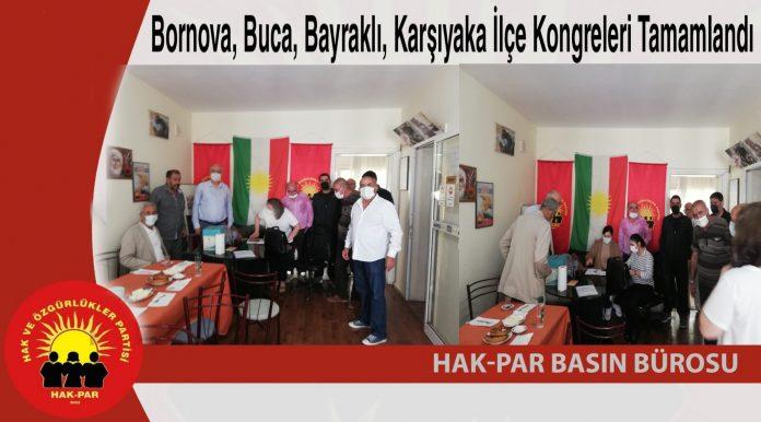Bornova, Buca, Bayraklı, Karşıyaka İlçe Kongreleri Tamamlandı